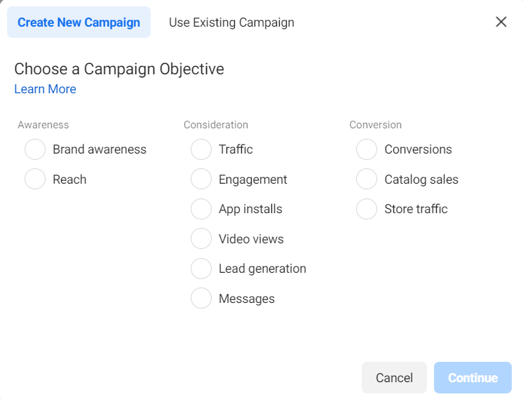facebook ads objective